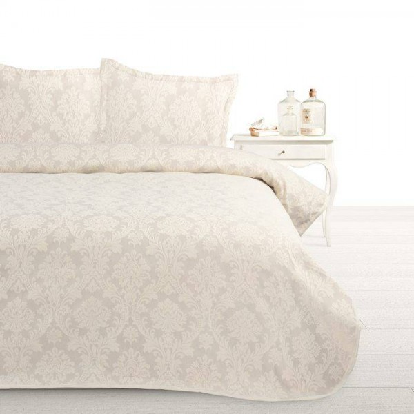 Fancy Embroidery bedsprei Heritage A Sand